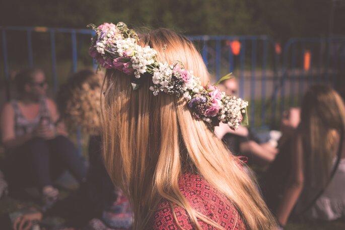 selbstgebastelter Blumenkranz DIY