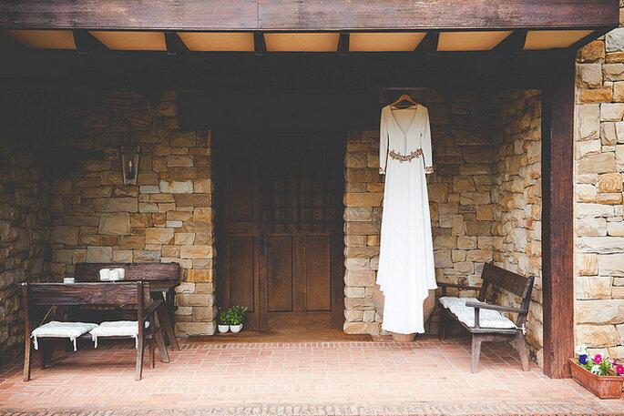 Los entornos campestres también son ideales para las fotos del vestido. Foto: Pelayo Lacazette