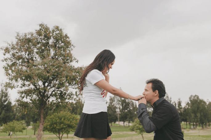 El compromiso de Monica y Ricardo. Fotografía Arody Sánchez