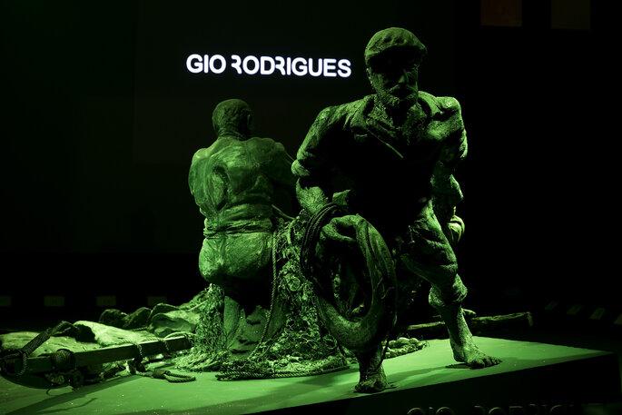 Cenário de apresentação da nova colecção de Gio Rodrigues.