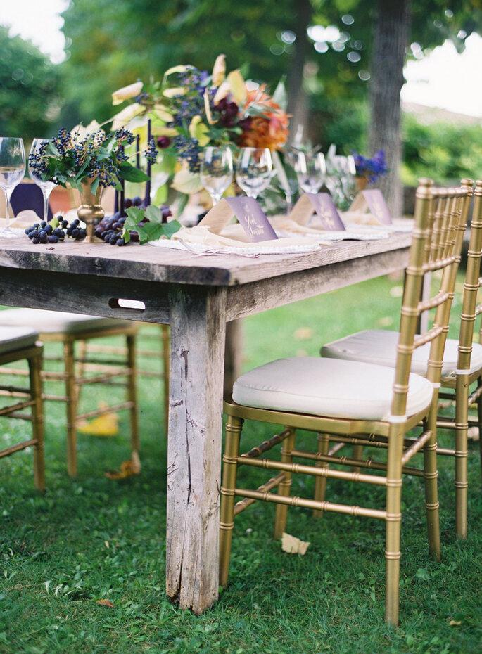 Detalles para una boda shabby chic - José Villa Photography.