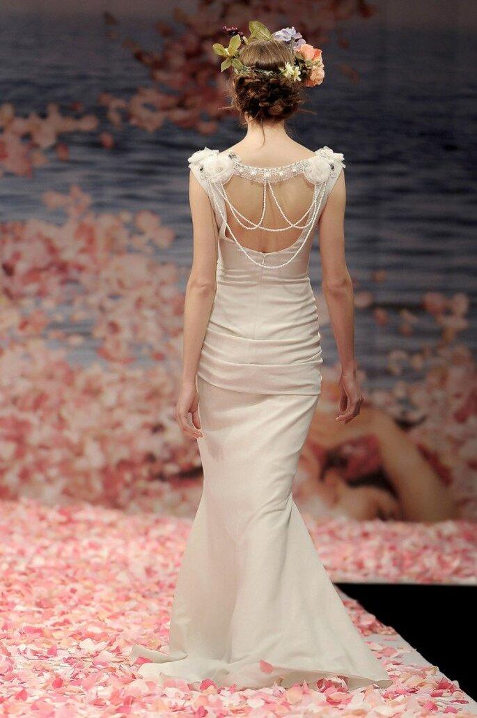 Perlas en tu look de novia - Claire Pettibone