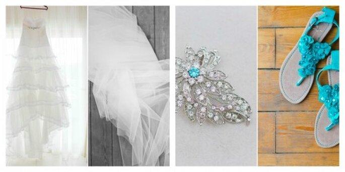 Mit tollen sommerlichen Farben setzte die Braut Akzente – Foto: nadia meli