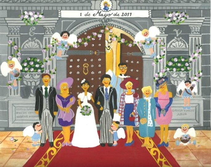 Un recuerdo perfecto para tus padres de tu boda naif - Tu cuadro naif