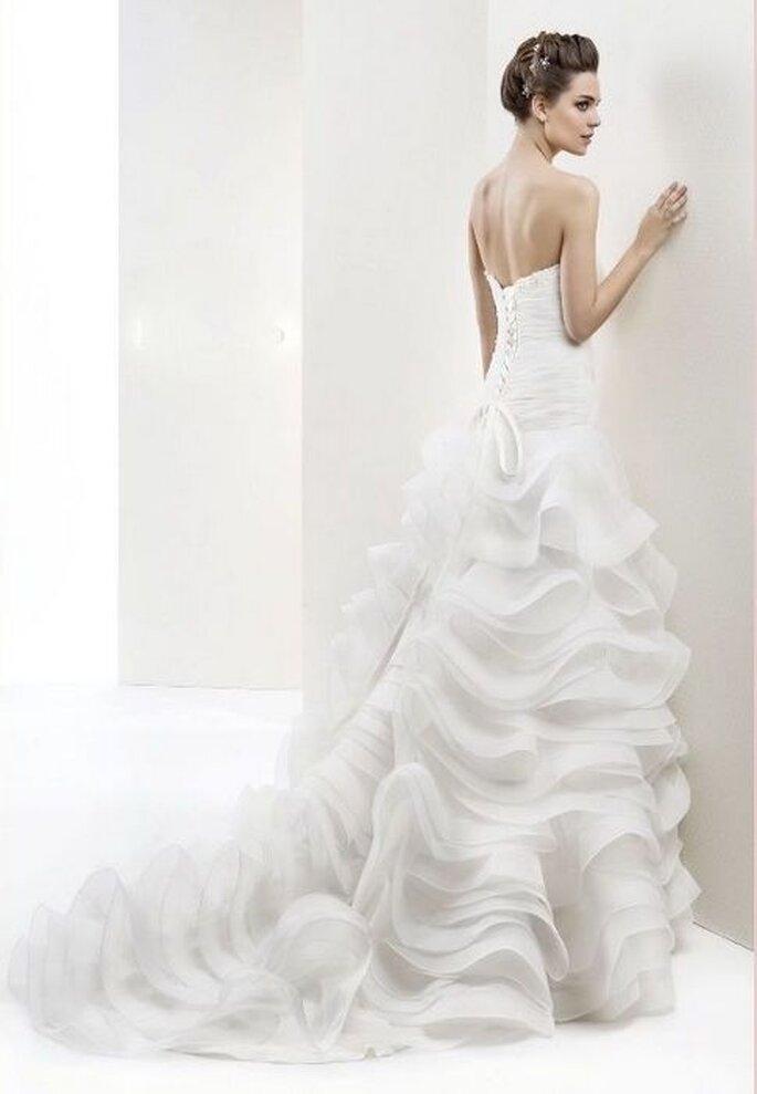Vestido de novia Maranello de Cabotine. Detalle de la espalda.