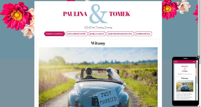 Strona ślubna Zankyou