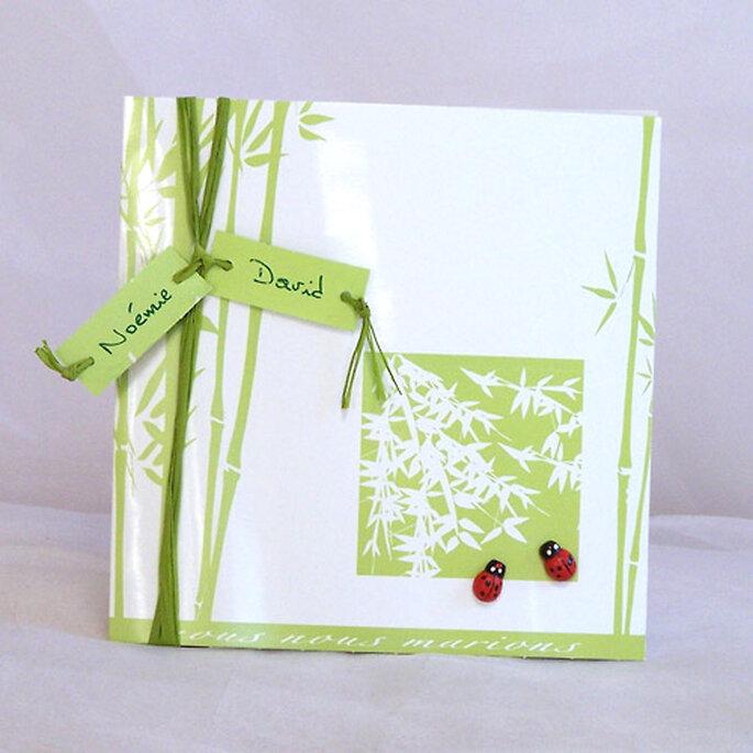 Faire-part de mariage vert : simplicité et raffinement...