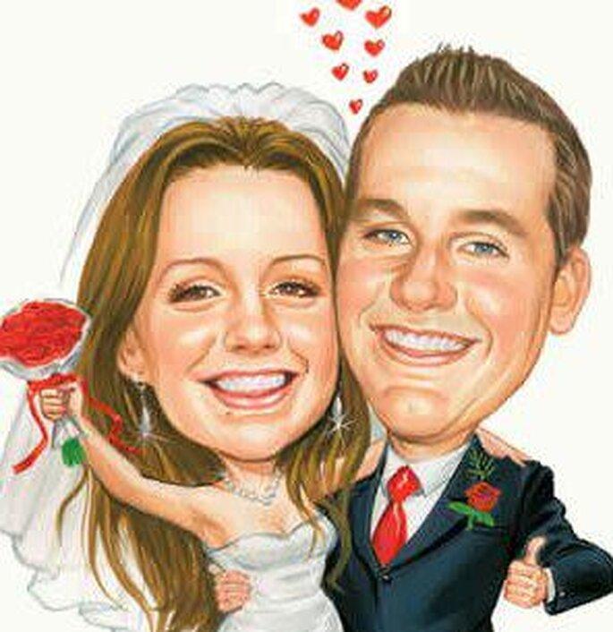 Foto: Karikatur Hochzeit – Hochzeitskarikaturen via facebook