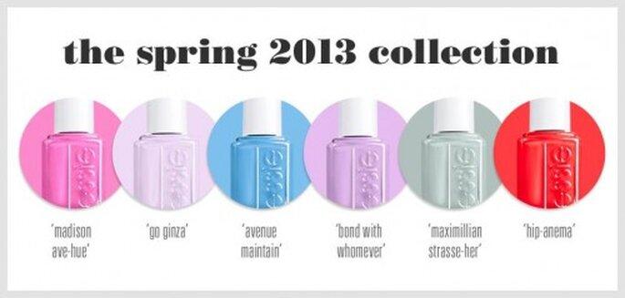 Rom nticos colores de u as para novias colecci n essie 2013 for Colores de pintura de moda