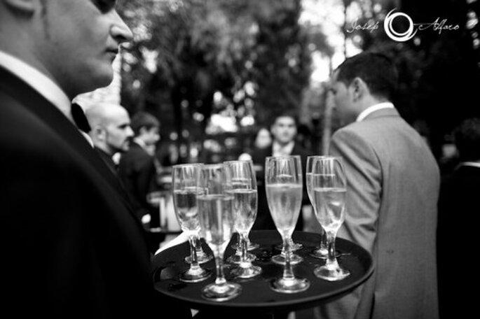 Vino blanco espumoso en tu boda