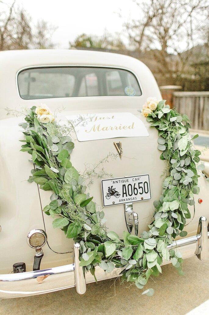 Dekoration für Ihr Hochzeitsauto