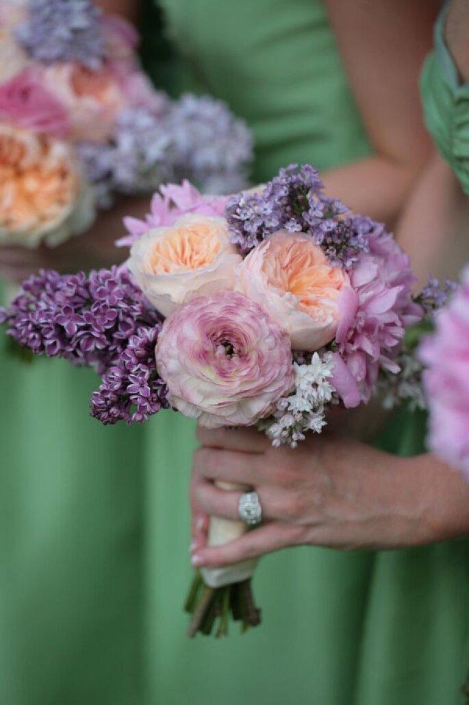 Decoración para tu boda en color púrpura y lila - Foto Susan Jackson Photography