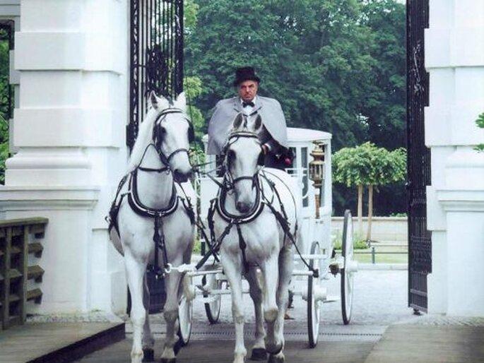 Die Hochzeitskutsche - der Traum von Romantikern, Foto: Berliner Hochzeitskutschen