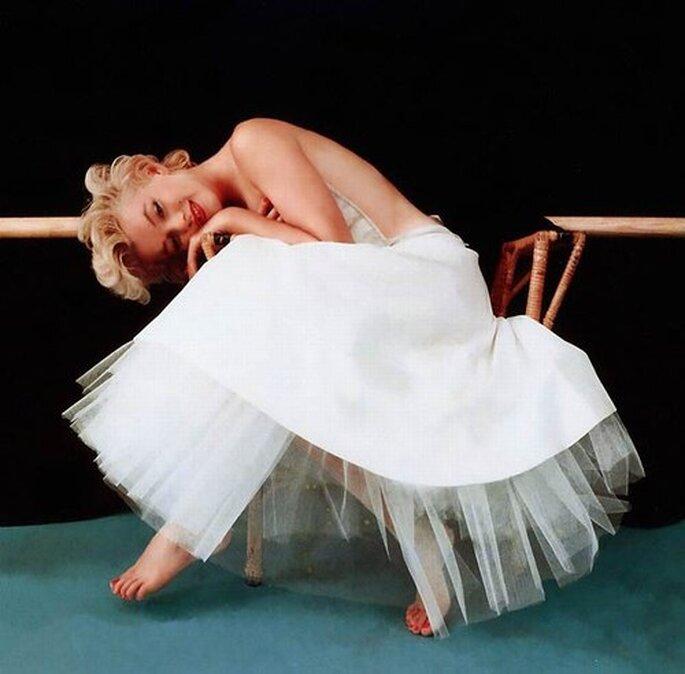 Os vestidos de noiva de Marilyn Monroe