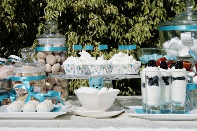 Los más lindos detalles de boda en color azul - Foto: Joy-eventos.com