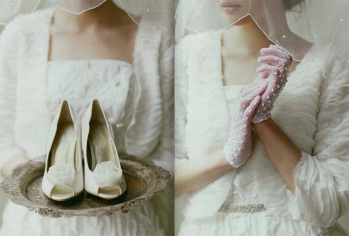 Nostalgisches Vintage-Hochzeitsoutfit – Foto: Ruche