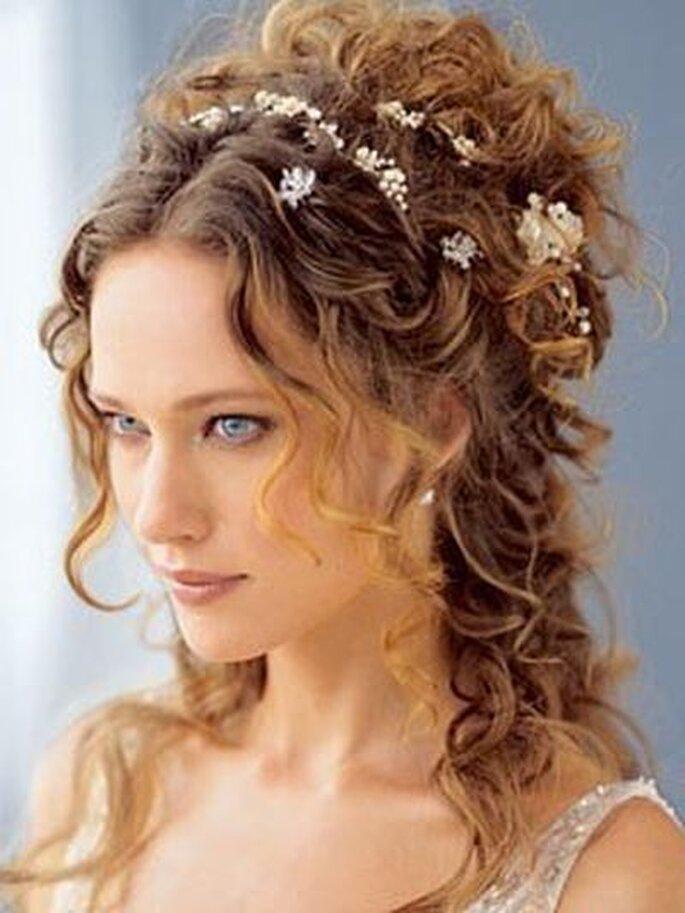 romantische Brautfrisur mit Locken - iriscapelli.it