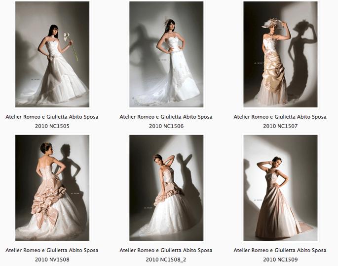 Una selezione di abiti da sposa per la collezione 2010