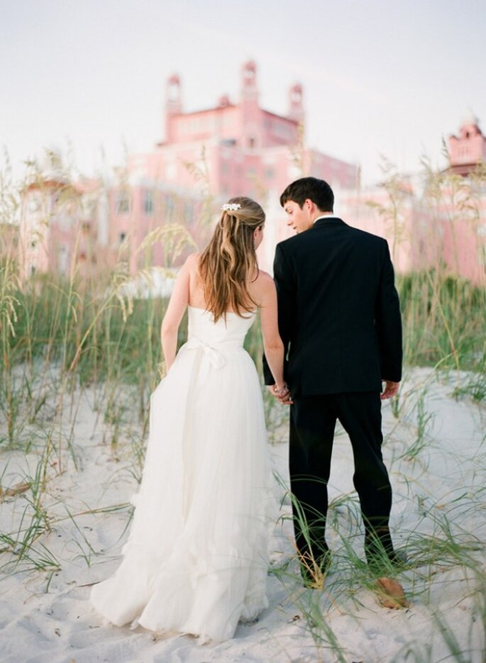 Real Wedding: Una boda en rosa al 100% - Foto Jason Demutiis Photography