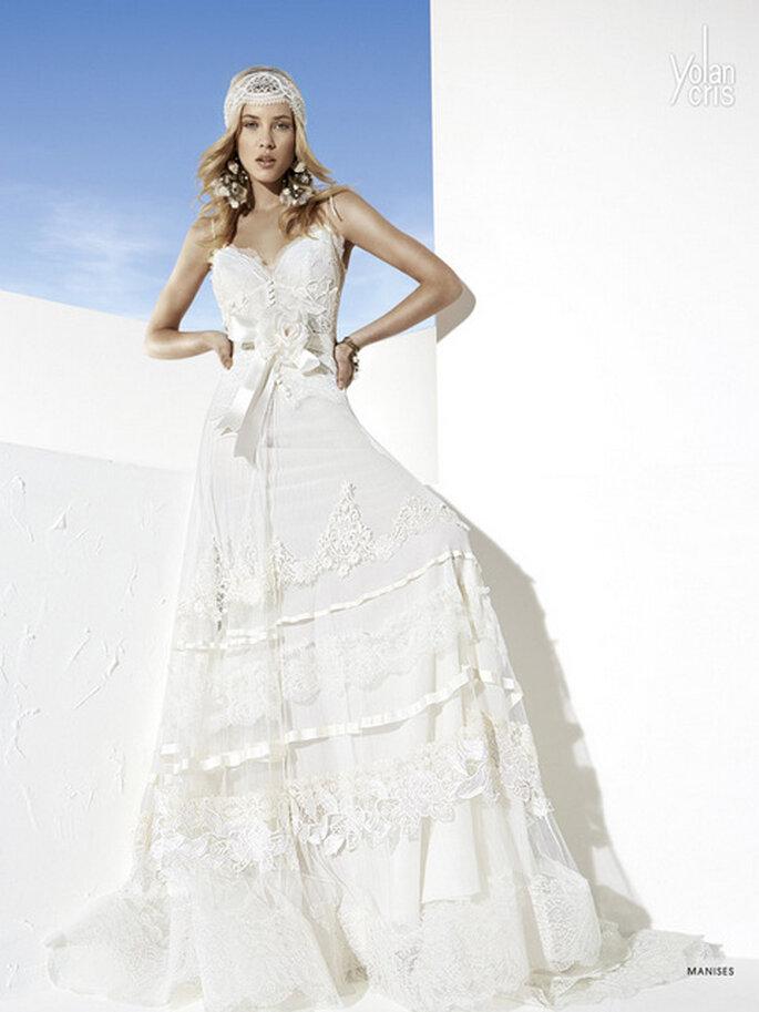 el vestido de la semana: un diseño ideal para casarse en la playa de