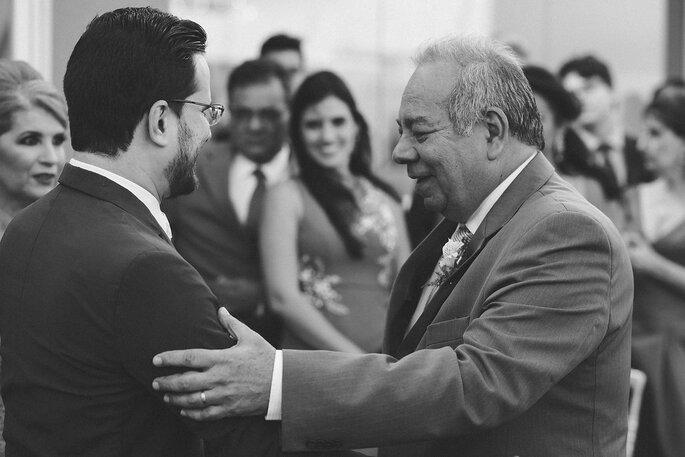 Cumprimento pai da noiva