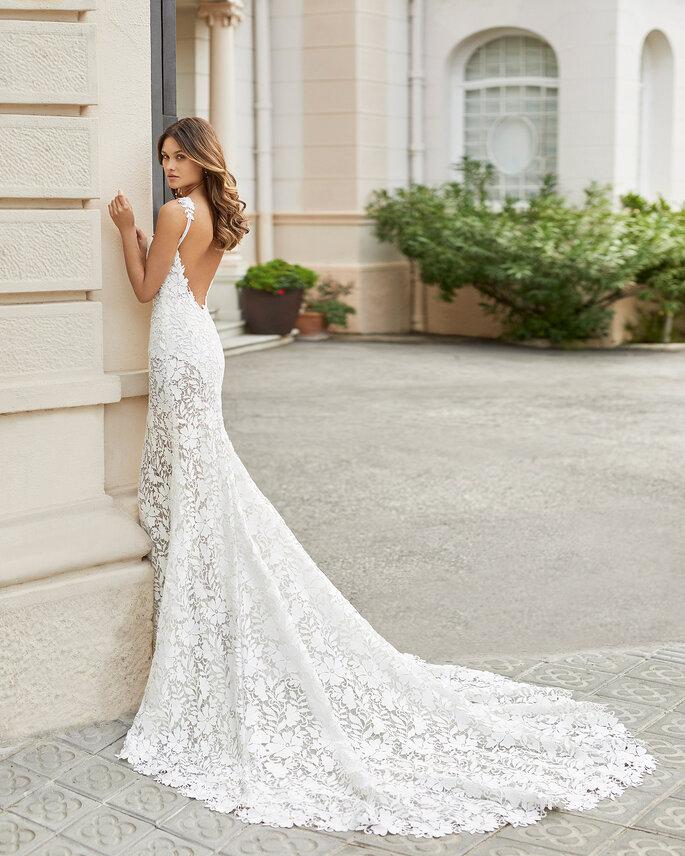 Vestidos de novia con escote a la espalda