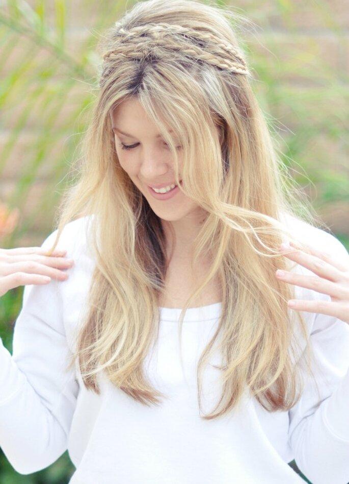 """© Maegan Tintari. """"Messy Rope braids hair tutorial -top"""""""