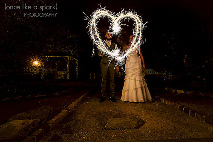 Décoration de mariage à faire soi-même sans se ruiner - Photo : once like a spark