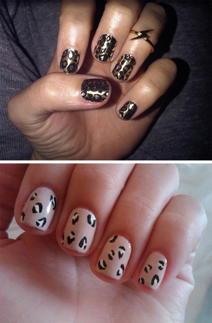 Manicure de estampado de leopardo para novias - Foto Twitter oficial de Katy Perry y Lauren Conrad