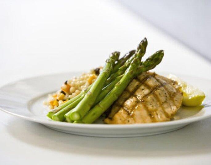 La comida del banquete de boda sabrosa sin pesticidas