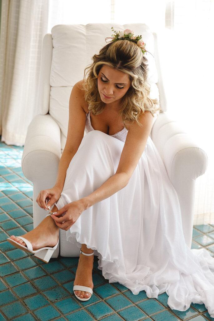 Sapato da noiva: Schutz - Foto: Alexandre Rechtman