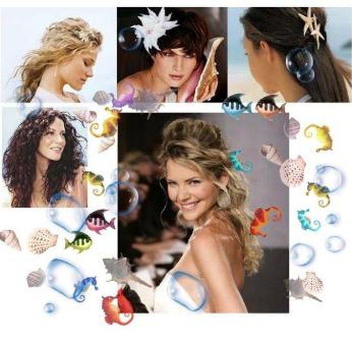 Penteados de Noivas para o verão - Beach casual
