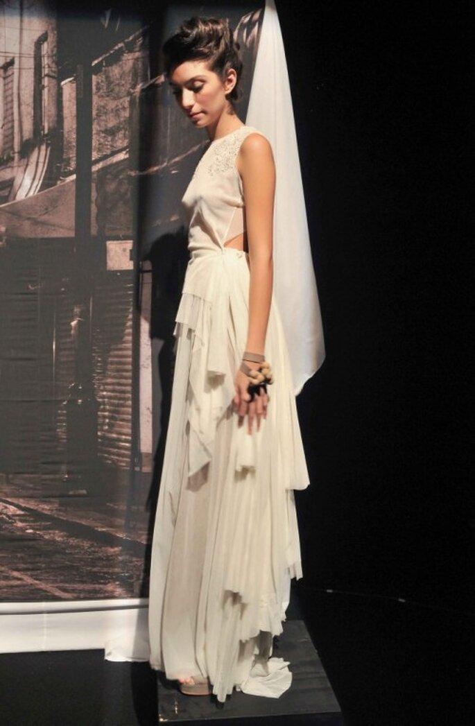 """Vestido de novia 2014 de la colección """"Querida fina"""" de Trista - Foto Mercedes Benz Fashion México"""