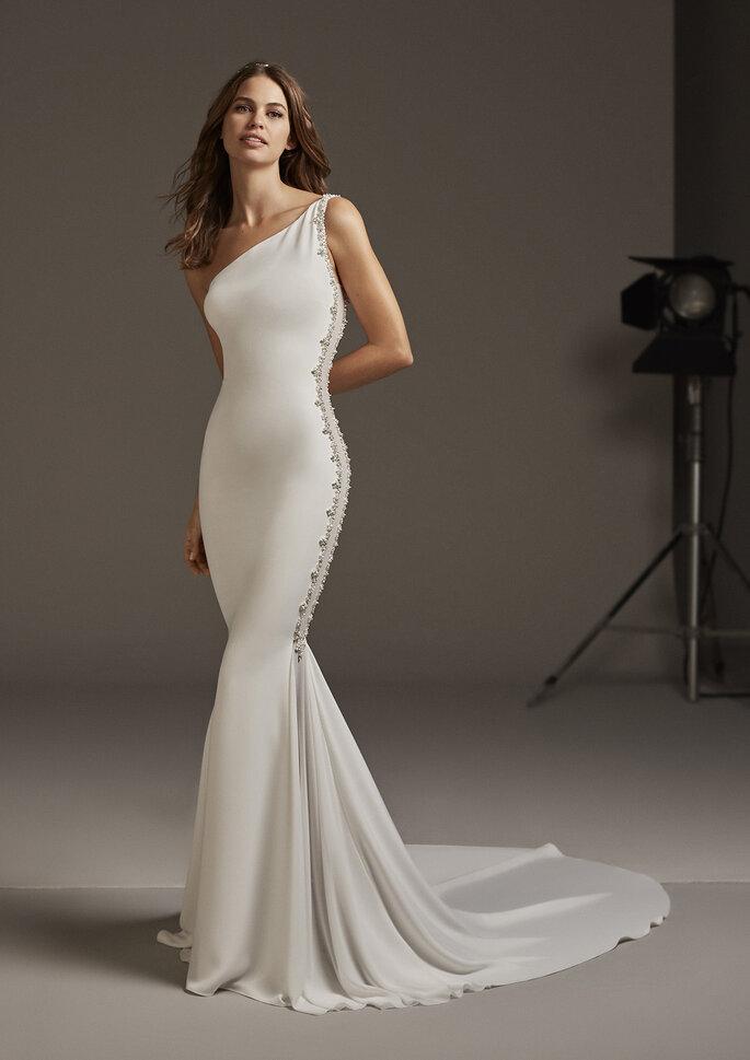 Vestido de novia sirena corte simple