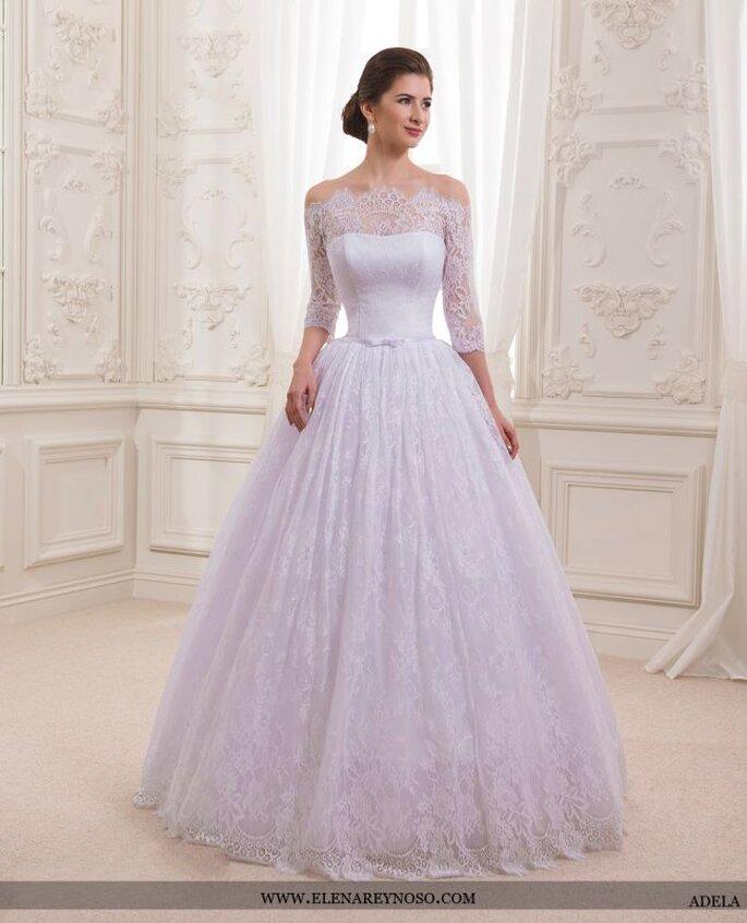 Vestido de novia para brazos anchos