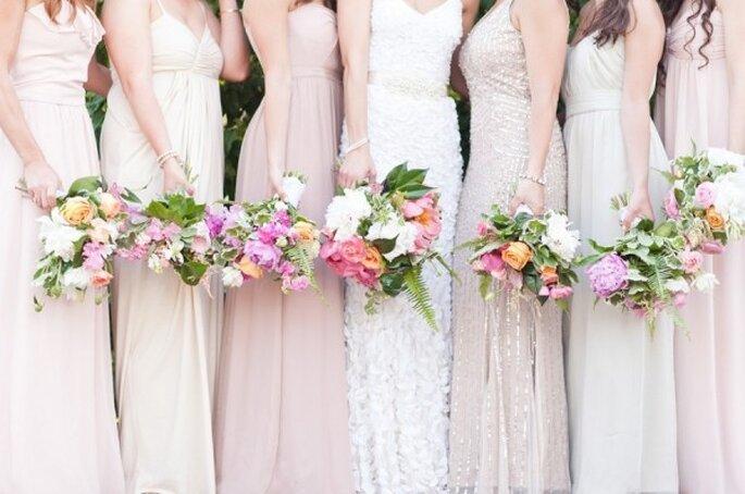 Cómo combinar los vestidos de tus damas de boda - Cassi Claire