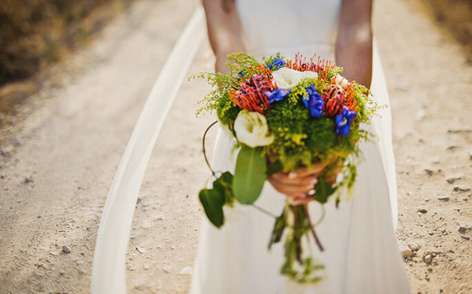 Celebra una romántica boda campestre. Foto: Fran Russo