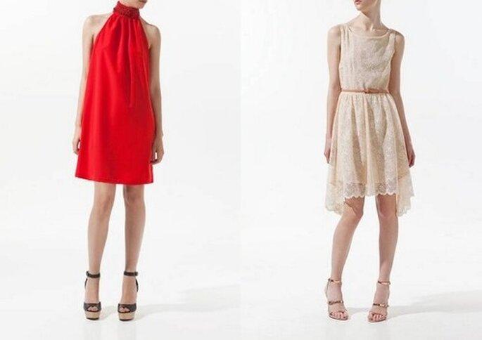 Vestidos cortos, ideales para ir a una boda de día en clima cálido. Fotos: Zara