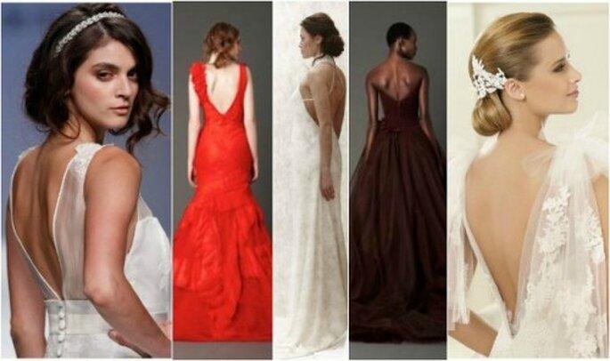 Vestidos de novia con espalada descubierta 2013