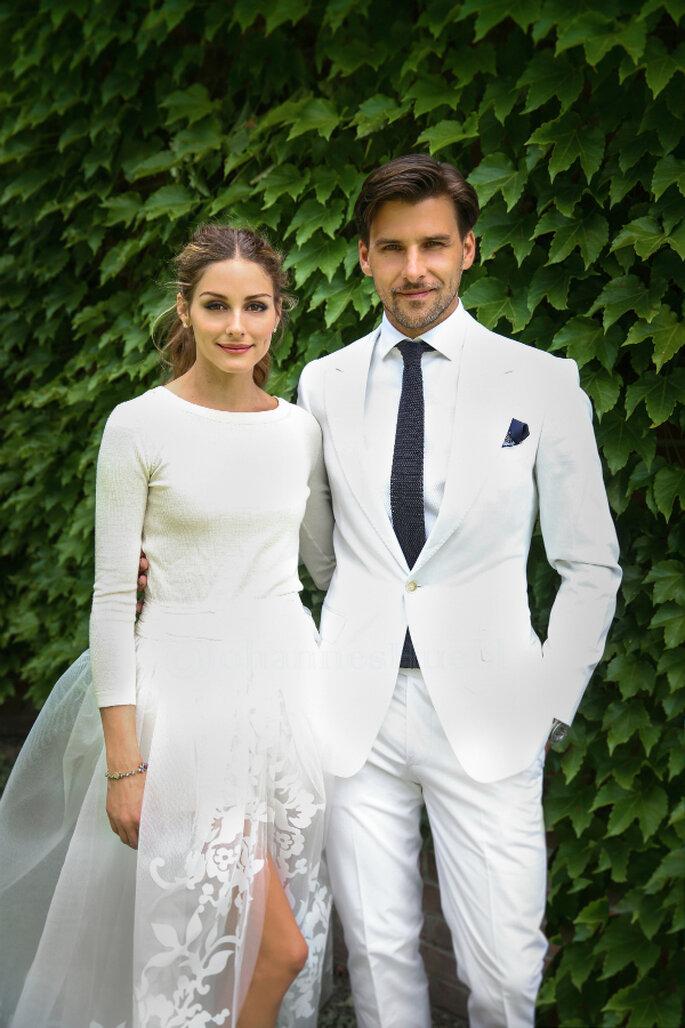 Minimal wedding Olivia Palermo