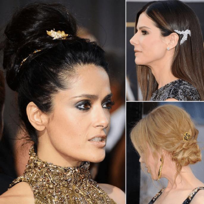 Accesorios en el cabello para agregar brillo y elegancia al look - Foto Getty