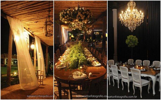 Decoración para boda intima. Imagenes Katia e Airton