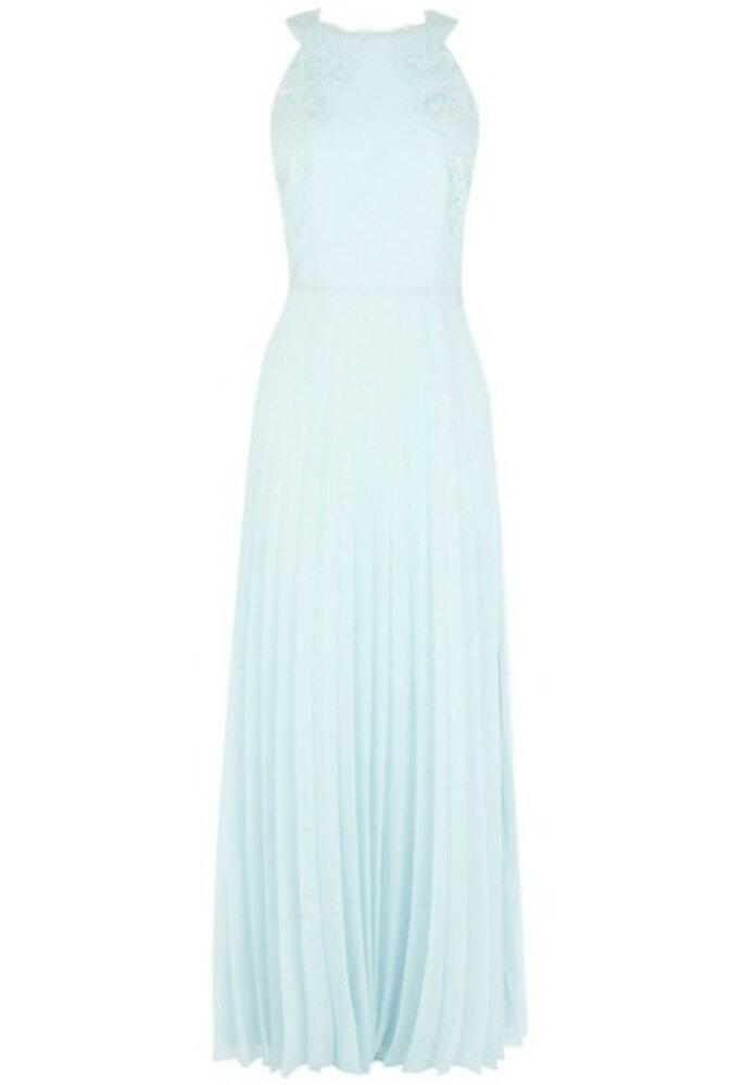 Платье с декольте и плиссированной юбкой, от Coast. Фото: John Lewis