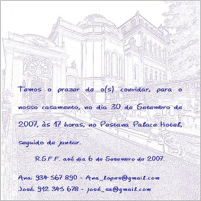 Convites de Casamento Clássicos - modelo da Oficina dos Presentes