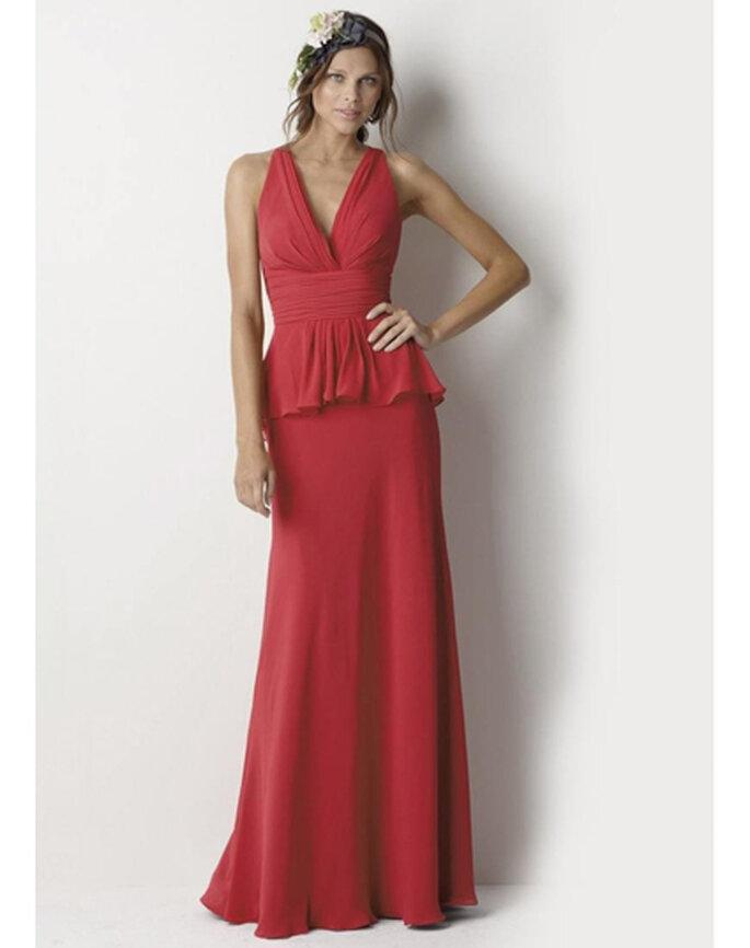 Vestido para damas rojo estilo peplo de PersunDresses.