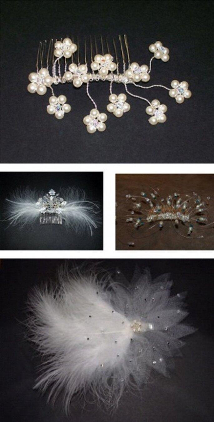 Peinetas como accesorios se encuentran diseños para todos los gustos.