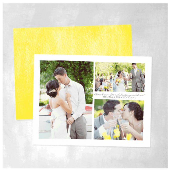 Arma un collage divertido para tus tarjetas de agradecimiento - Foto Smitten on Paper