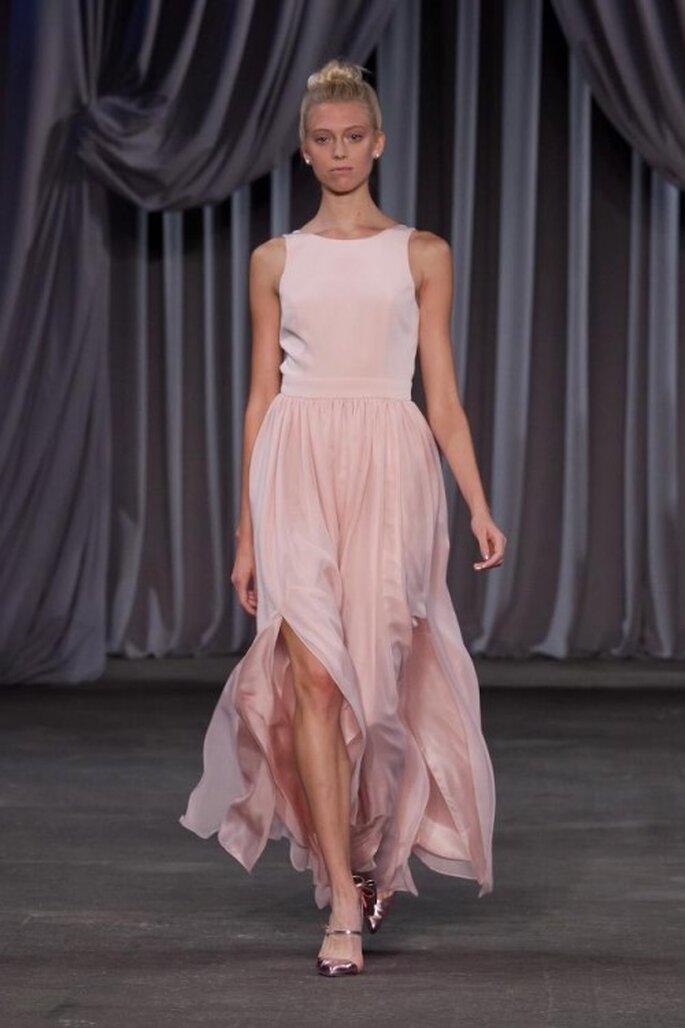 Vestido de fiesta 2013 largo en color rosa pastel con falda voluminosa - Foto Christian Siriano