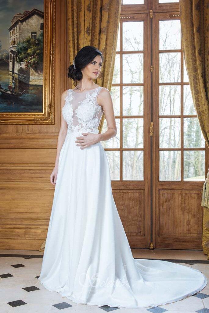 Osmoz Mariage - un modèle portant une robe Paul Nathalie de chez Osmoz Mariage