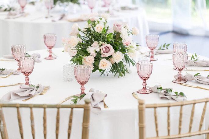 Décoration stylée de table de mariage